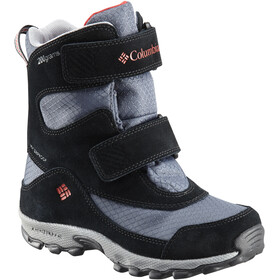 Columbia Parkers Peak Hook-and-Loop Boots Kids, graphite/bright red